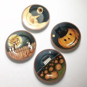 David Carter Brown Halloween  Dessert  plates